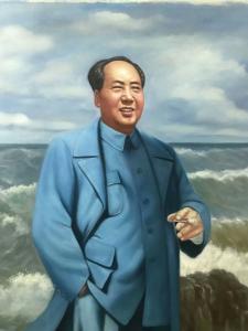 张恒久油画《伟大领袖毛主席》