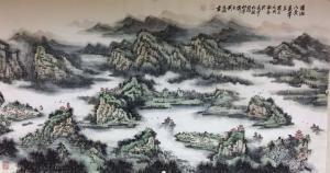 刘应雄国画《潇湘八景全景图》