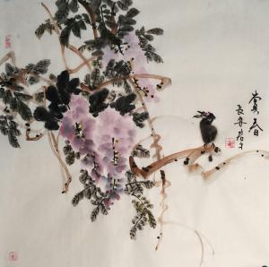 田君才国画作品《赏春》价格4800.00元