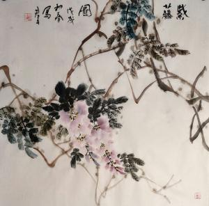 田君才国画作品《紫藤图》价格4800.00元