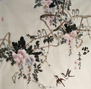 田君才国画作品《春》价格4800.00元