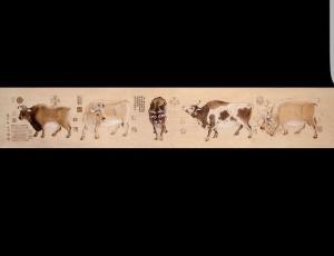 王全战手工作品-《烙画-牛》