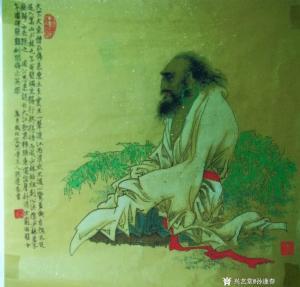孙逢春国画作品《十年面壁图》议价