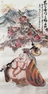 尚建国国画作品《慈心善行五福盈门》价格40000.00元