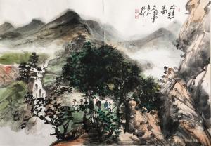 赵永利国画作品《吟诗图》议价