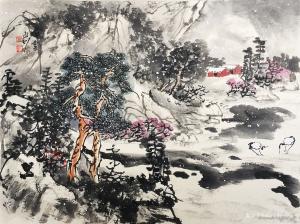 赵永利国画作品《雪韵》价格2600.00元