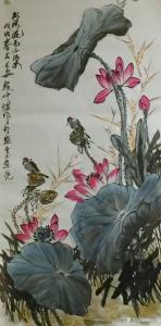 赵仲谋国画作品《荷花》价格12000.00元