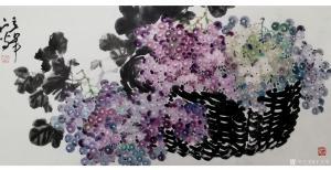 王立军国画作品《《硕果丰盈》》价格3000.00元