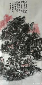 杨牧青国画作品《山水》价格160000.00元
