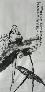 杨牧青国画作品《荷》价格8000.00元