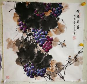 韩宗华国画作品《硕果累累》价格3000.00元