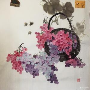 杨凌国画作品《硕果》议价
