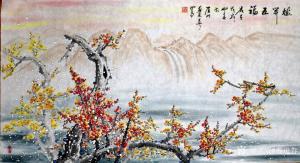 苏进春国画作品《梅开五福》价格1000.00元