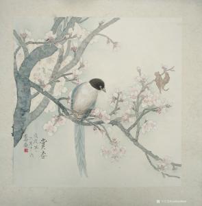 王嵩淼国画作品《赏春》议价