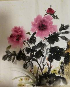池清云国画作品《牡丹》价格900.00元