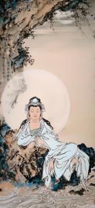 李亚南国画作品《观音菩萨像》价格5000.00元