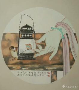 傅斌科国画《过去之心不可得》