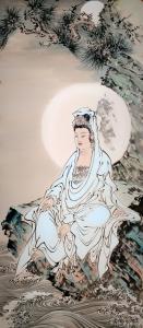 李亚南国画作品《观世音菩萨像》价格5000.00元