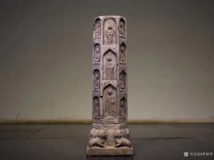 罗邵华雕刻作品《众佛法像佛柱》价格10000.00元