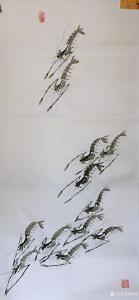杨凌国画作品《遨游》议价