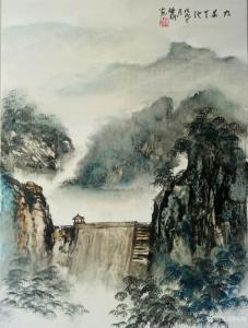陈刚国画作品《九华天池》价格1500.00元