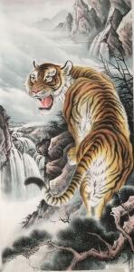 姜进清国画作品《王者至尊》价格1500.00元