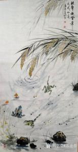 苏进春国画作品《蛙声兆丰年》价格800.00元