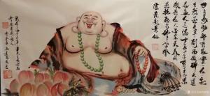 尚建国国画作品《大自在弥勒佛》议价