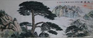 张喜才国画作品《迎客松》议价