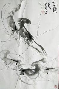 胡小炜(润德)国画作品《逐戏》价格3000.00元