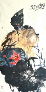 甘庆琼国画《海天野风》