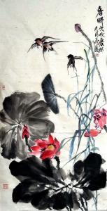 甘庆琼国画《春晖》