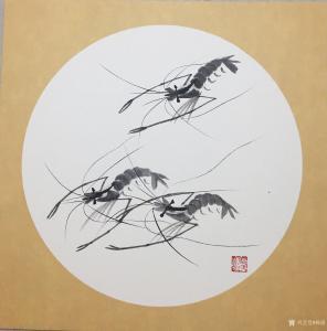 杨凌国画作品《龙行天下》价格200.00元