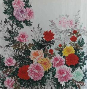 乔荣英国画作品《花开富贵》议价