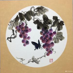 杨凌国画作品《硕果1》价格200.00元
