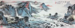 徐建清国画作品-《江山风晴》