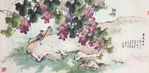 徐建清国画作品《紫气东来》价格16000.00元