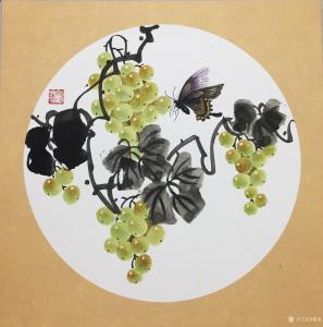 杨凌国画作品《硕果系列3》价格200.00元
