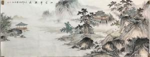 李伟成国画作品《山空翠欲滴》价格1200.00元