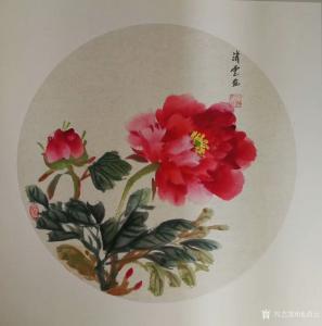 池清云国画作品《花开富贵》价格600.00元