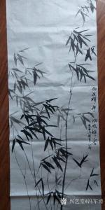冯军涛国画作品《竹》价格1000.00元