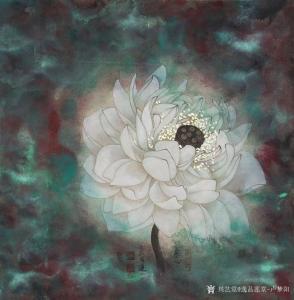 逸品莲堂-卢梦阳国画作品《素心明月》价格12000.00元