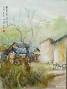 陈刚国画作品《秋到农家院》价格1500.00元