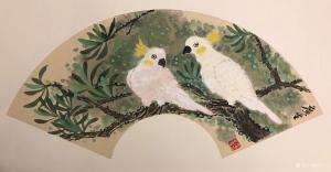 石广生国画《玄凤鹦鹉》