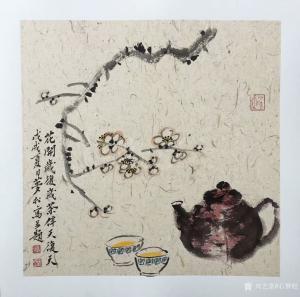 石梦松国画作品《一壶茶》议价