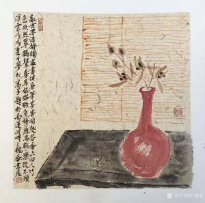 石梦松国画作品《花瓶》议价