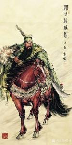 袁峰国画《关公神威图》