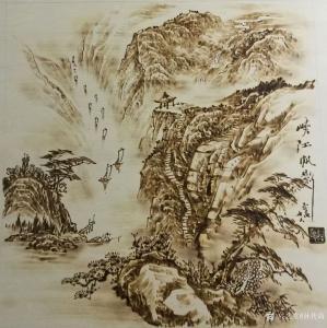 孙传海手工作品-《峡江帆影2》