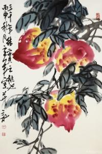 王立军国画作品《《三千年结实之桃》》议价