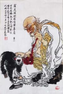 河南艺双画廊国画作品《书画家张正武十八罗汉》议价